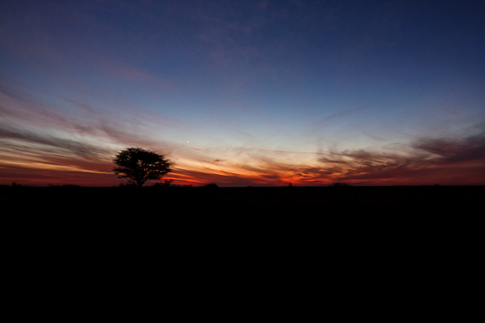 photoblog image Namibian farm - a beautiful sunset