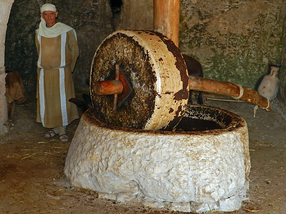 photoblog image Nazareth village - an olive press