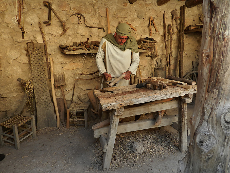 photoblog image Nazareth village - carpenter