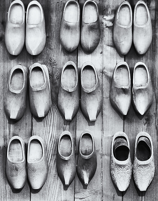 photoblog image Clogs on a wall